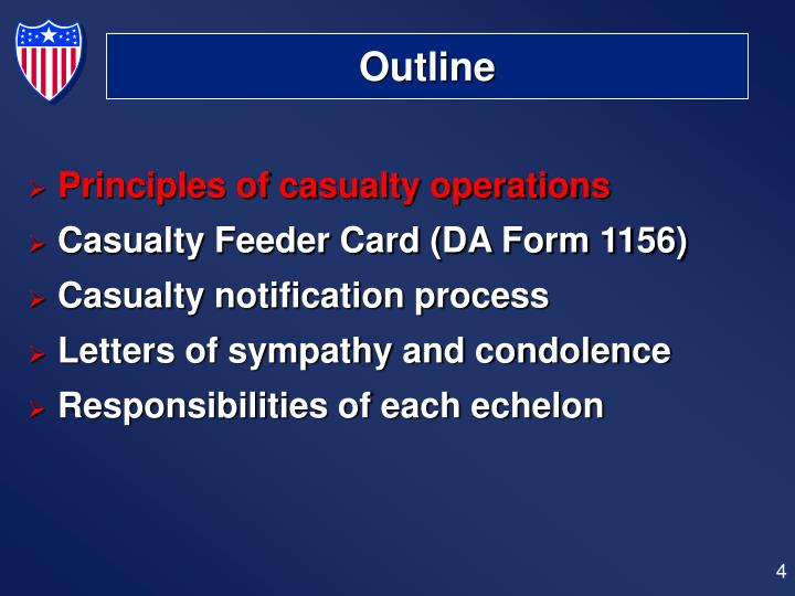 Nice Principles Of Casualty Operations; Casualty Feeder Card ...