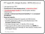 fp7 appel 8 design studies infra 2011 2 1 1
