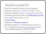 objectifs du projet plt