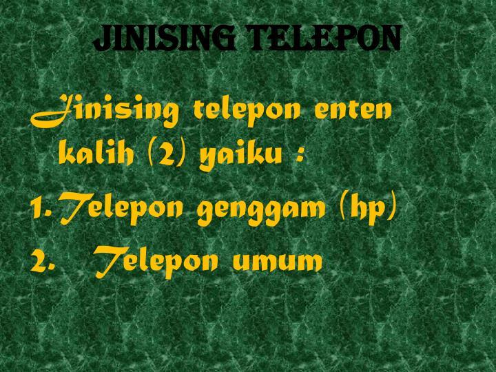 Jinising telepon