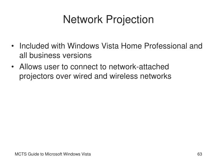 Network Projection