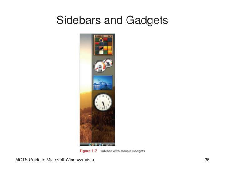 Sidebars and Gadgets