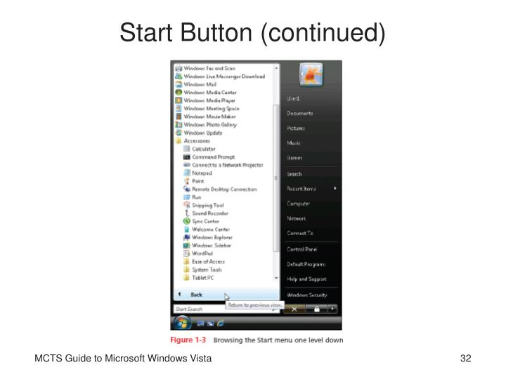 Start Button (continued)