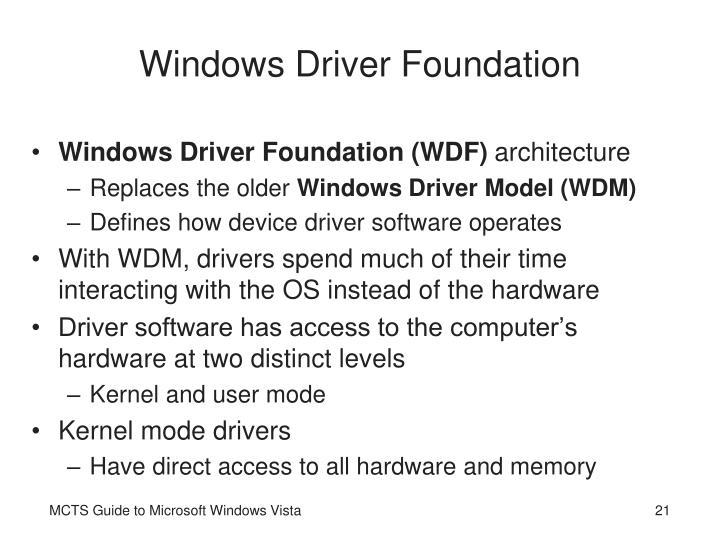 Windows Driver Foundation