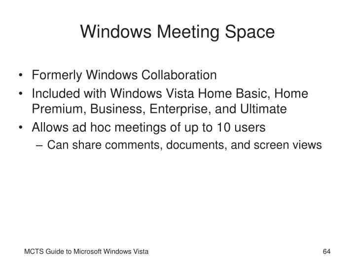 Windows Meeting Space
