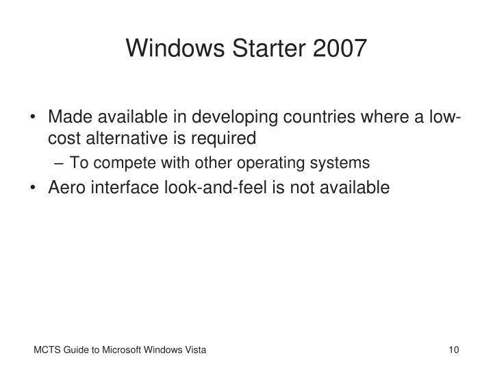 Windows Starter 2007