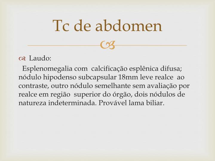 Tc de abdomen