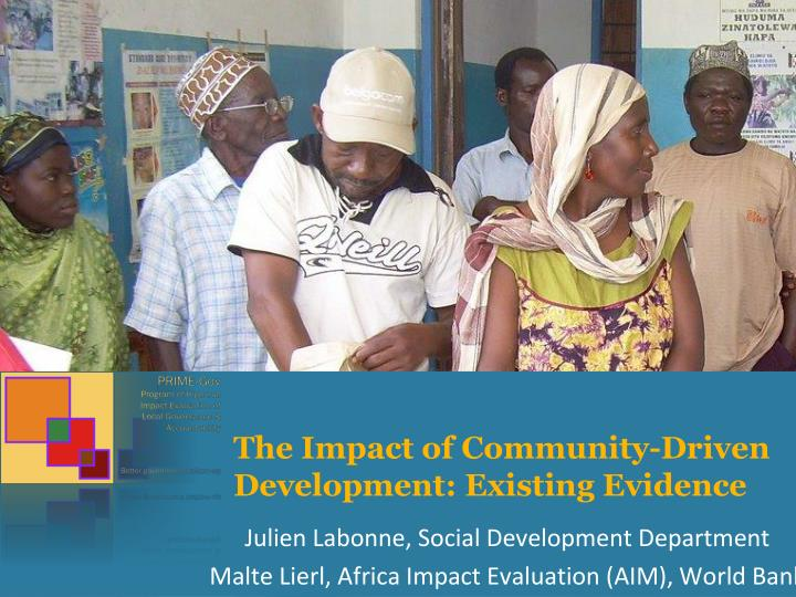the impact of community driven development existing evidence n.