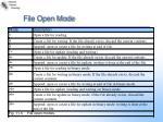 file open mode