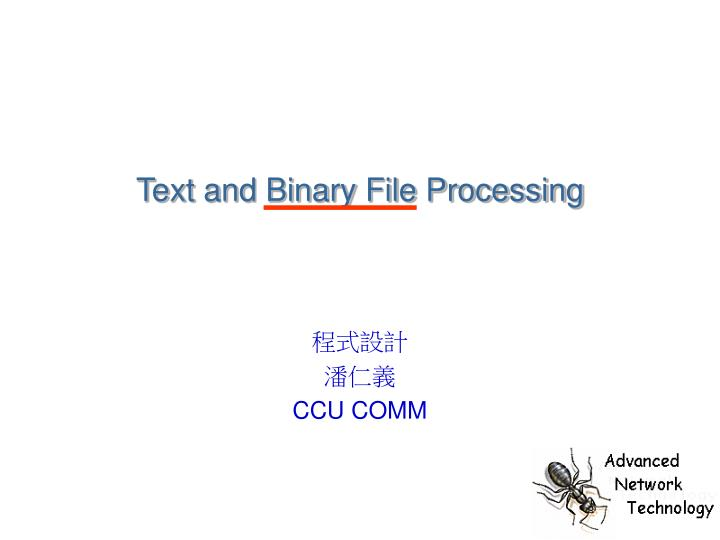 text and binary file processing n.
