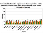 percentual de fumantes regulares de cigarros por faixa et ria