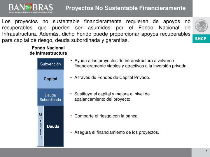 Proyectos No Sustentable Financieramente
