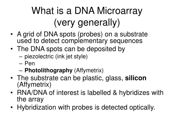 What is a DNA Microarray