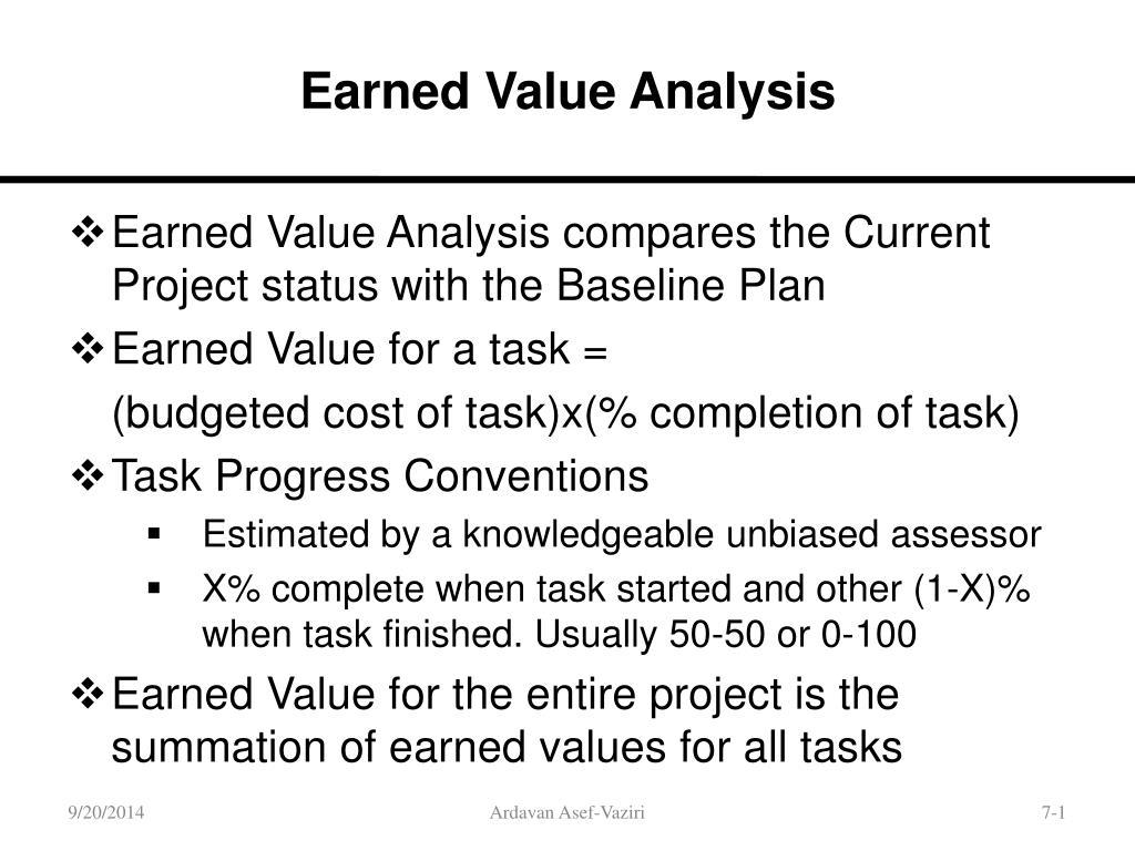 earned value management tutorial module 7