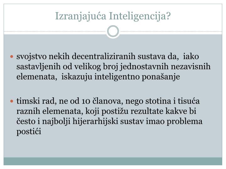 Izranjaju a inteligencija1