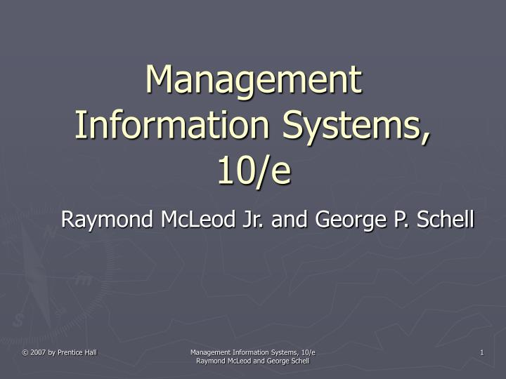 management information systems 10 e n.