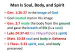 man is soul body and spirit