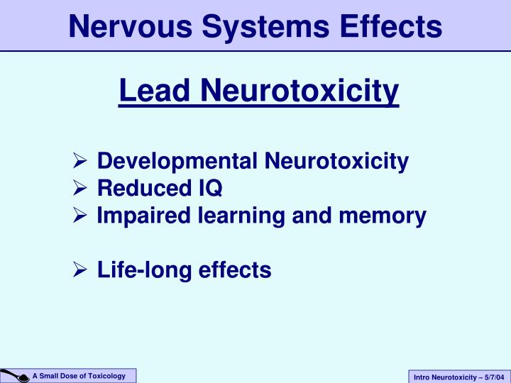 Nervous Systems Effects