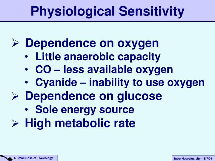 Physiological Sensitivity