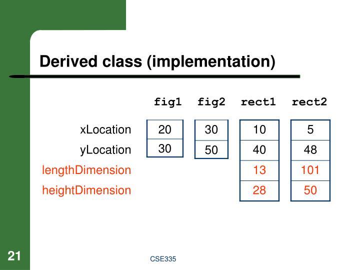 Derived class (implementation)