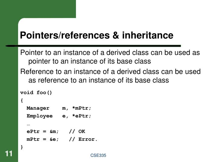 Pointers/references & inheritance