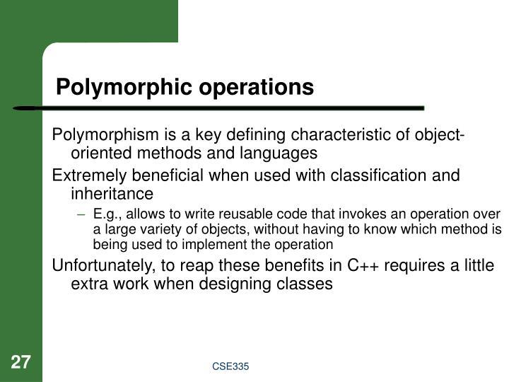 Polymorphic operations