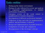 tasks outline