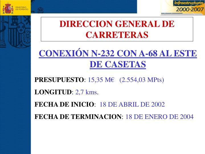 DIRECCION GENERAL DE CARRETERAS
