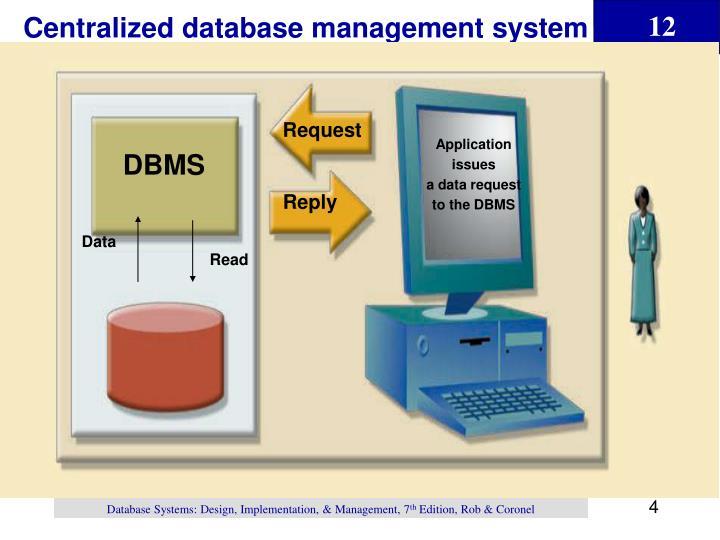 Centralized database management system