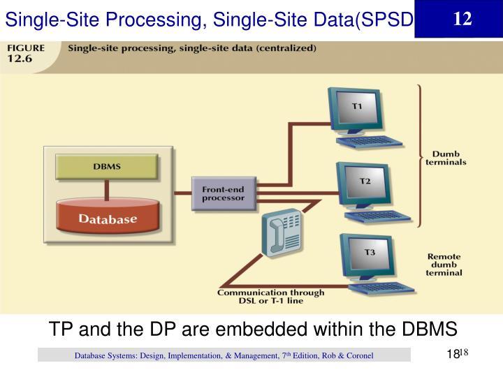 Single-Site Processing, Single-Site Data(SPSD)