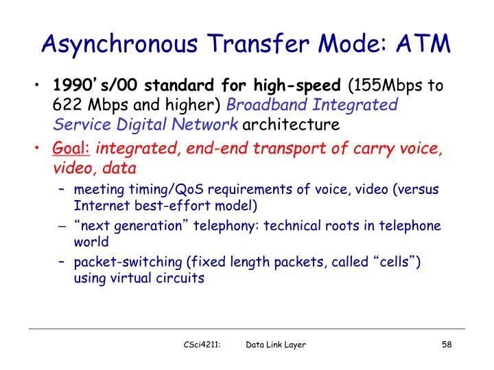 Asynchronous Transfer Mode: ATM