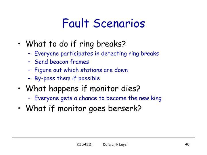 Fault Scenarios
