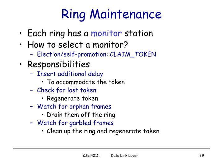 Ring Maintenance