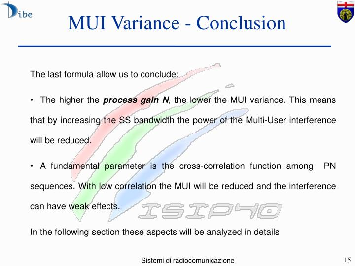 MUI Variance - Conclusion