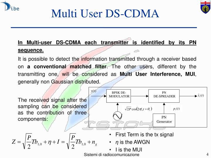 Multi User DS-CDMA