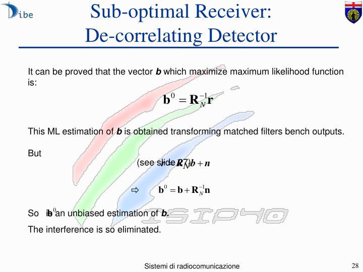 Sub-optimal Receiver: