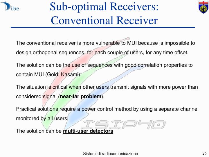 Sub-optimal Receivers: Conventional Receiver