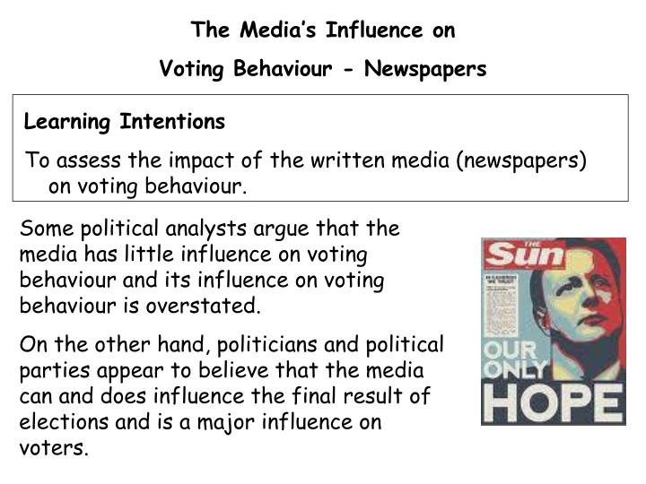 essay.politics and media