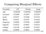 comparing marginal effects