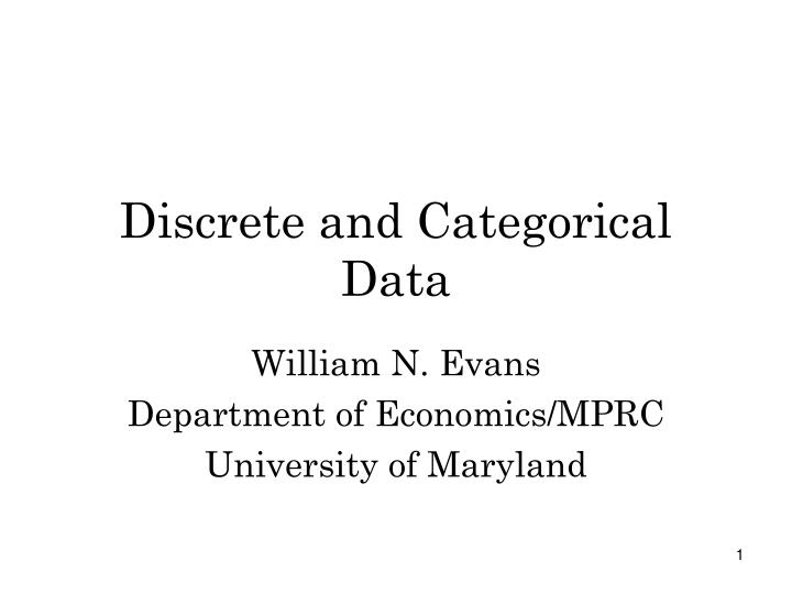 discrete and categorical data n.