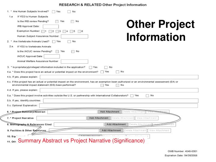 Other Project Information