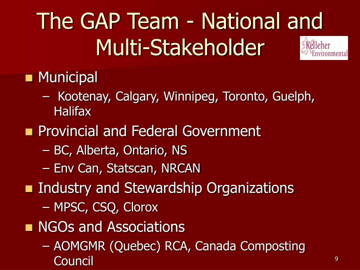 The GAP Team - National and Multi-Stakeholder