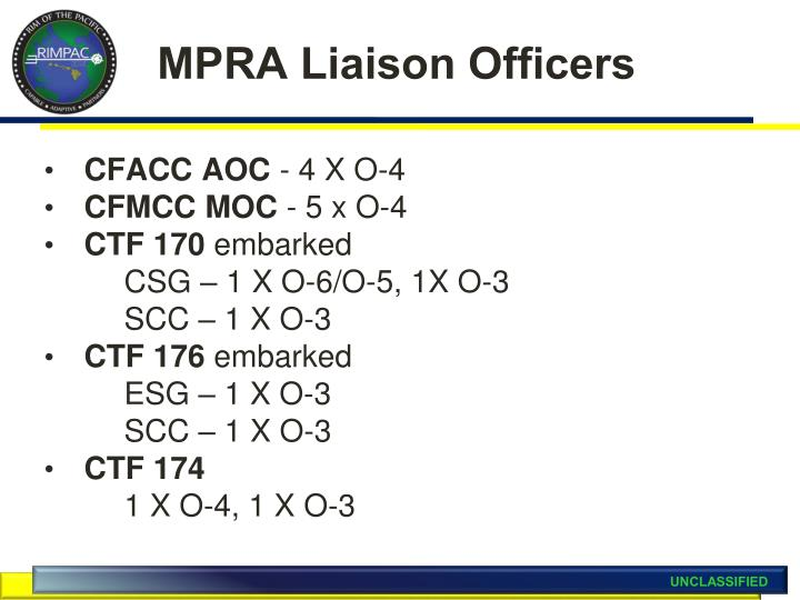MPRA Liaison Officers