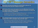 hl7 dft message semantics