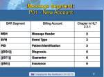 message segment p01 new account