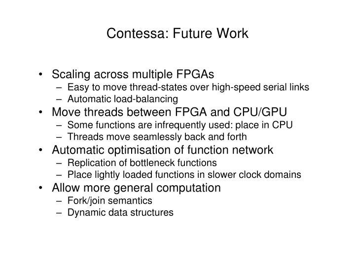 Contessa: Future Work