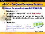 abi c proquest european business