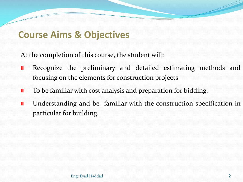 PPT - Specification & Quantities Estimating PowerPoint