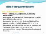 tasks of the quantity surveyor