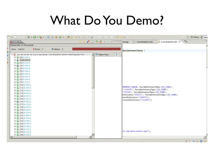 What Do You Demo?